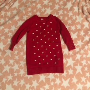 Gap 4T Red Sweater Dress / Tunic - Christmas